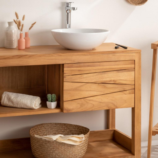 meuble de salon en bois massif meuble salle de bain en teck wanda collection. Black Bedroom Furniture Sets. Home Design Ideas