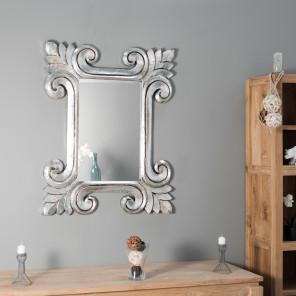 miroir miroir de salon en bois massif. Black Bedroom Furniture Sets. Home Design Ideas
