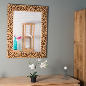 Miroir miroir de salon en bois massif for Miroir bois salon