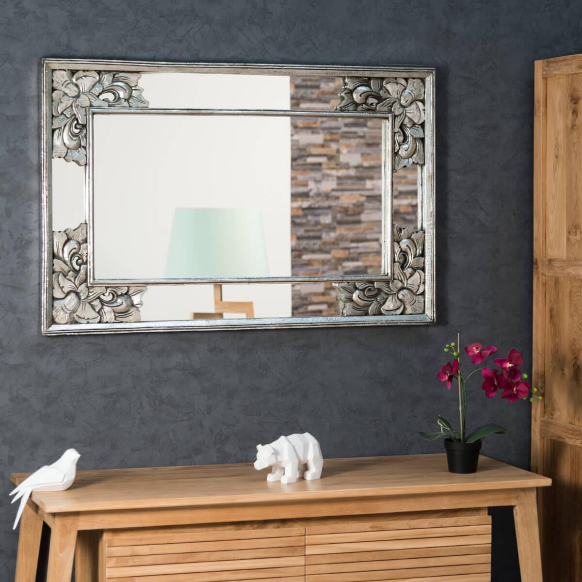 miroir de d coration en bois massif mathilde carr