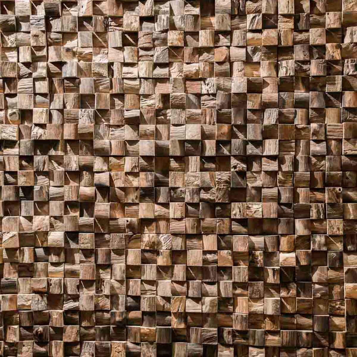 Parement mosa que en teck recycl naturel carr 20cm x 50cm for Nettoyant naturel salle de bain
