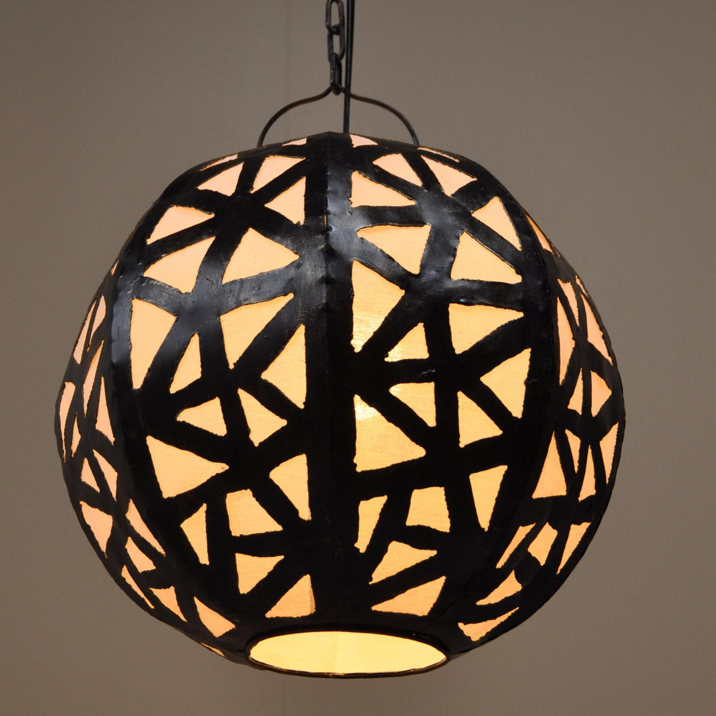 Luminaire lustre suspendu acier rond blanc d 35 cm - Wanda collection ...