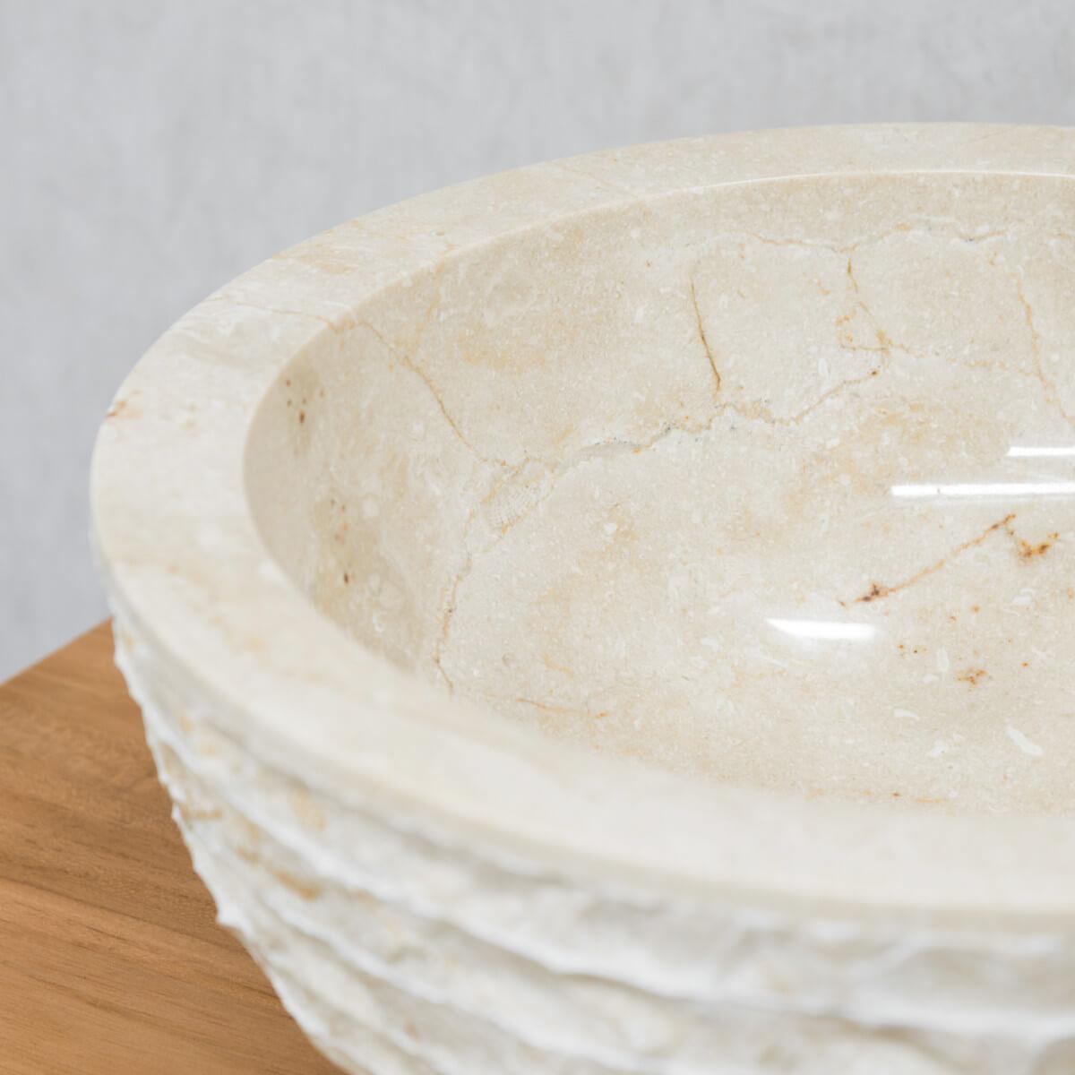 lave mains de wc poser en marbre v suve rond cr me. Black Bedroom Furniture Sets. Home Design Ideas